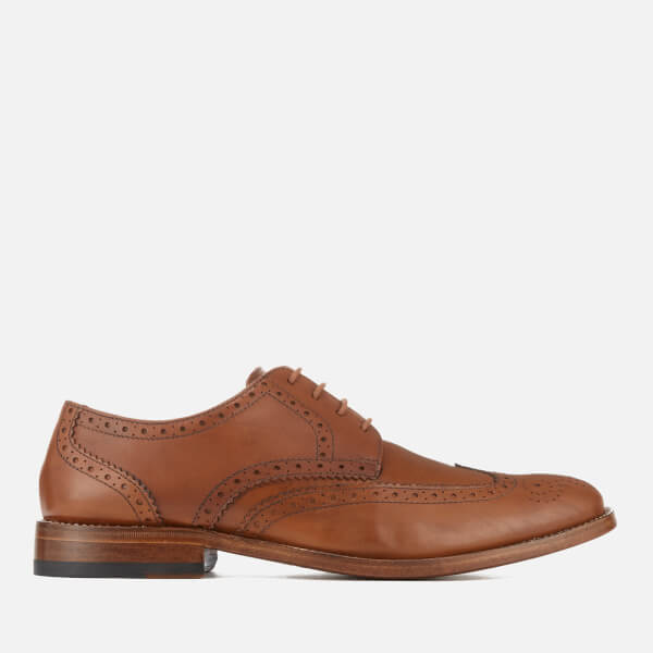 Clarks Men's James Wing Leather Brogues - Tan