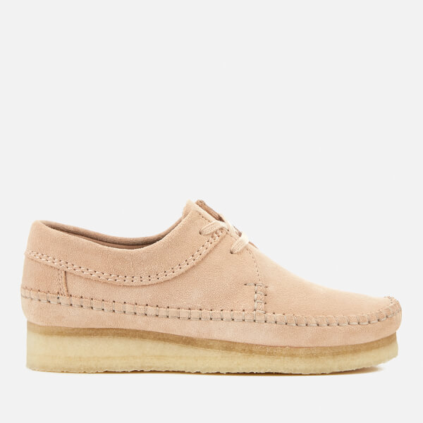 Clarks Women's Weaver Suede Shoes - Light - UK 3