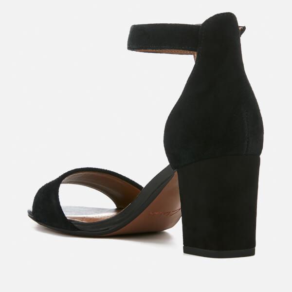 f7f86ec3e730 Clarks Women s Deva Mae Suede Blocked Heeled Sandals - Black  Image 3
