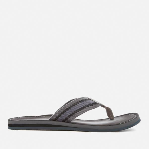 Clarks Men's Lacono Sun Flip Flops - Grey/Black