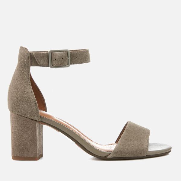 2ccc70d60c3 Clarks Women s Deva Mae Suede Blocked Heeled Sandals - Sage  Image 1