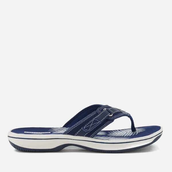d375de921b30 Clarks Women s Brinkley Sea Toe Post Sandals - Navy