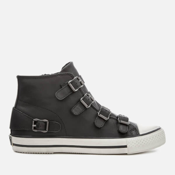 Ash Women's Venus Nappa Leather Hi-Top Trainers - Black