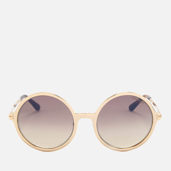 799cc83f11 Tom Ford TF 5391 glasses Source · Tom Ford Women s Ava Round Frame  Sunglasses Rose Gold Brown Mirror