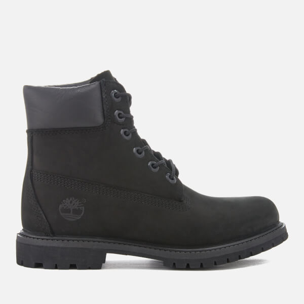 Timberland Women's 6 Inch Premium Leather Boots - Black
