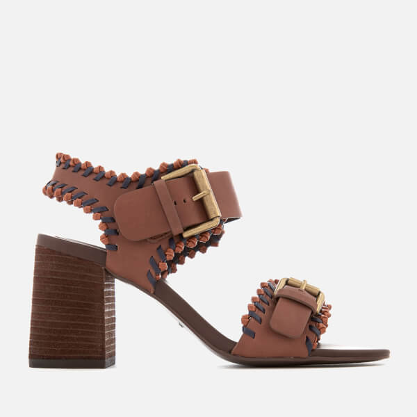 Chloé Women's Leather Blocked Heeled Sandals