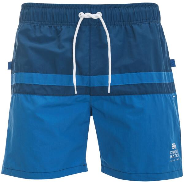 Crosshatch Men's Teesdale Swim Shorts - Estate Blue