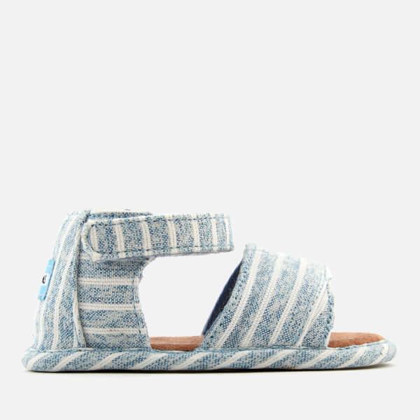 142e51eac4c TOMS Babies  Shiloh Sandals - Sky Washed Stripe  Image 1