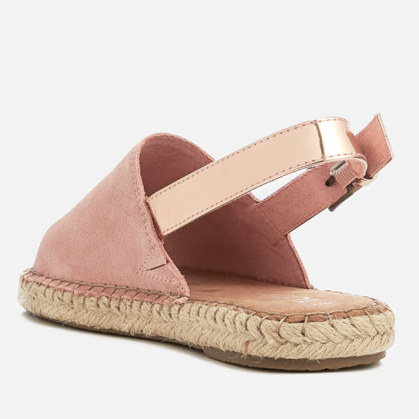 Bloom and Rose Gold Back Strap Espadrilles - Bloom Toms YrSBwN