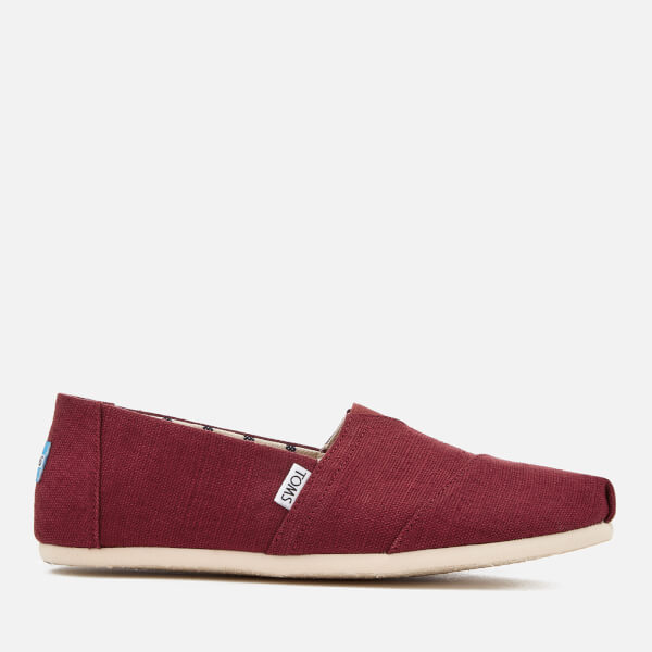 TOMS Men's Alpargata Canvas Slip-On Pumps - Black Cherry