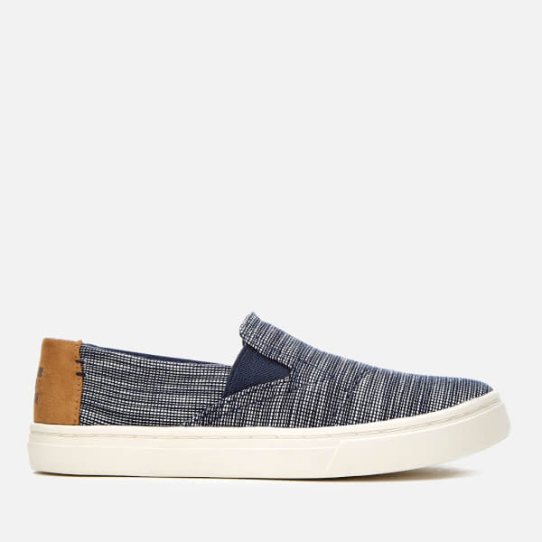 9c5b48a7d5a TOMS Kids  Luca Chambray Slip-On Trainers - Navy Striped