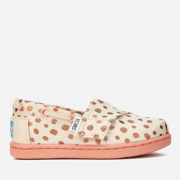 TOMS Toddlers' Bimini Slip-On Pumps - Rose Gold Dots