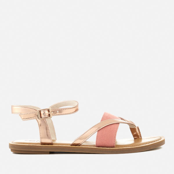 2dcb80bfed87e5 TOMS Women s Lexie Strappy Sandals - Rose Gold Specchio Hep  Image 1