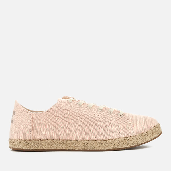 0f432dc0357 TOMS Women s Lena Canvas Lace Up Espadrilles - Bloom Slubby  Image 1