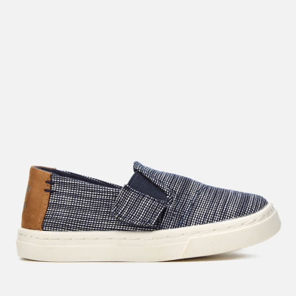 TOMS Toddlers' Luca Chambray Slip-On Trainers - Navy Striped