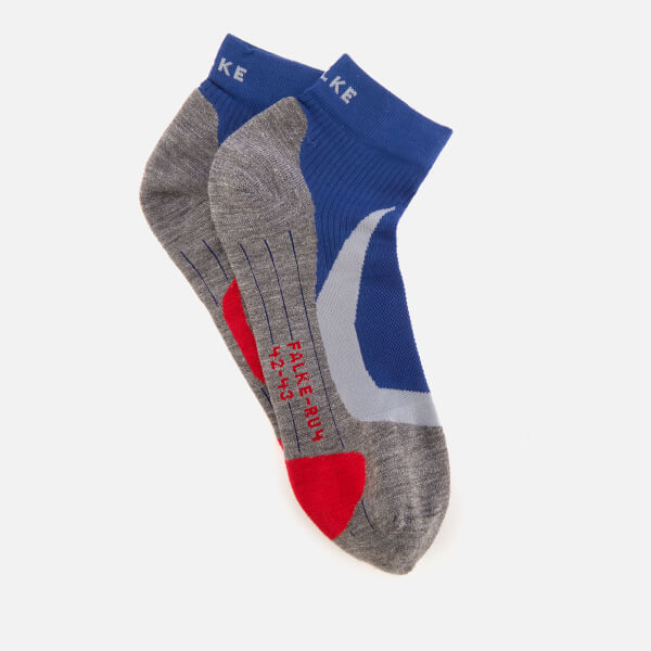 FALKE Ergonomic Sport System Men's RU4 Cushion Running Short Socks - Athletic Blue