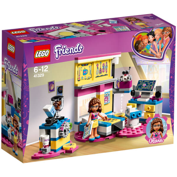 lego friends olivias deluxe bedroom 41329 toys