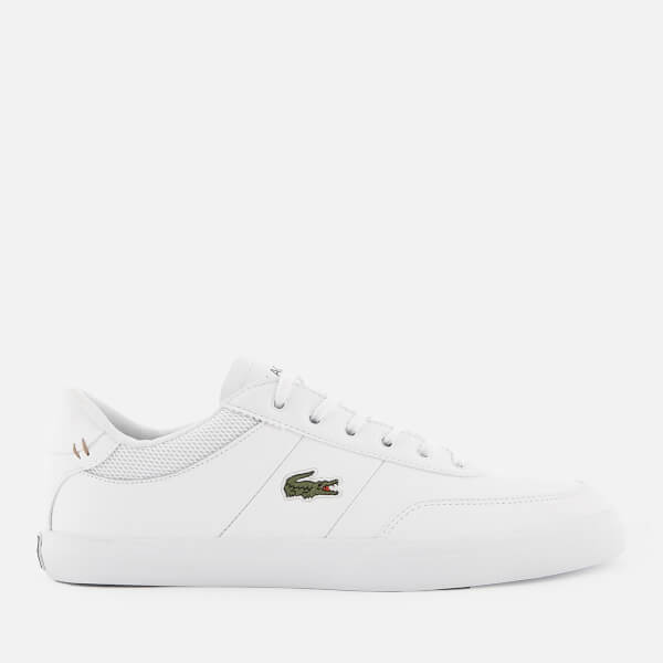 Lacoste Men's Court Master 118 2 Leather Trainers - White/Navy