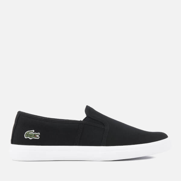 Lacoste Women's Gazon BL 2 Canvas Slip-On Trainers - Black