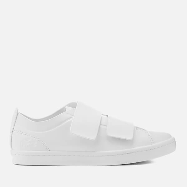 Lacoste Women's Straightset Strap 118 1 Leather Cupsole Trainers - White