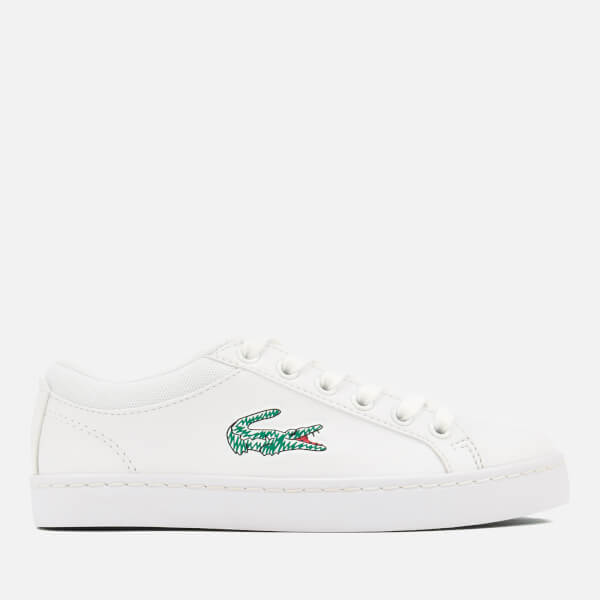 Lacoste Kids' Straightset Lace 118 1 Canvas Trainers - White