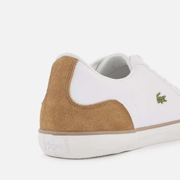 26b5db818 Lacoste Men s Lerond 118 1 Leather Trainers - White Light Brown  Image 6