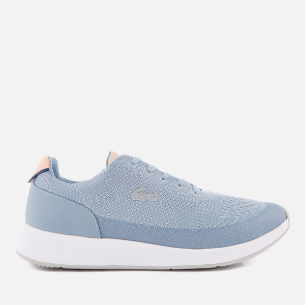 8ef77355f Lacoste Women s Chaumont 118 3 Runner Trainers - Light Blue Light Pink