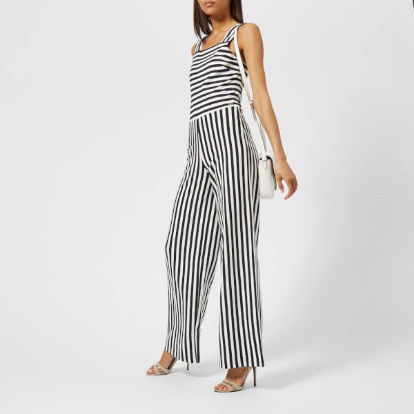 479c8efa75c2 Armani Exchange Women s Striped Ponte Jumpsuit - Navy White Womens ...