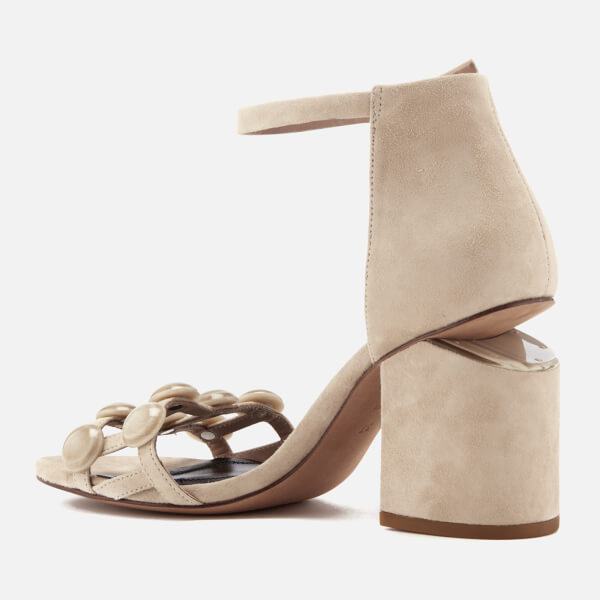 Alexander Wang Women's Abby Suede Heeled Sandals - Cashmere - UK 4