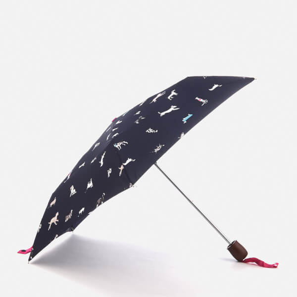 Joules Women's Printed Umbrella - French Navy Dog