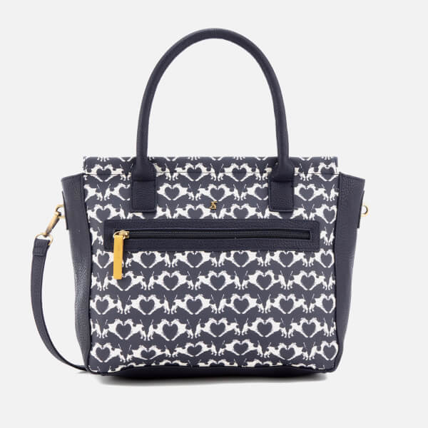 Joules Women's Day To Day Print Shoulder Bag - Navy Fox Terrier Geo