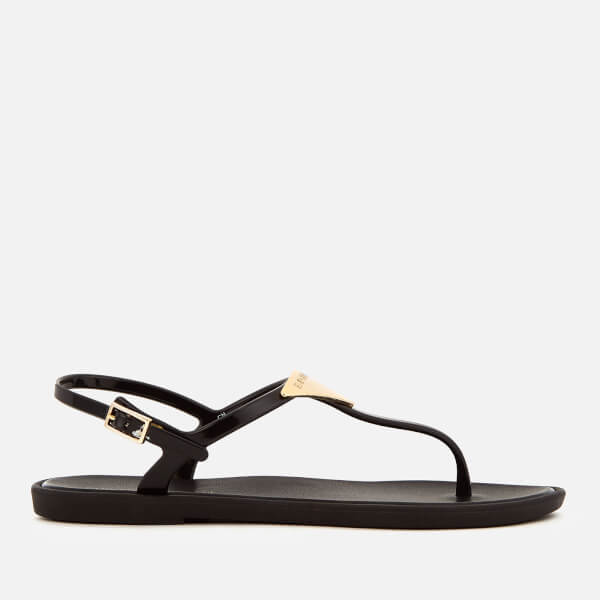 Emporio Armani Women's Coqui Soft Jelly Sandals - Black