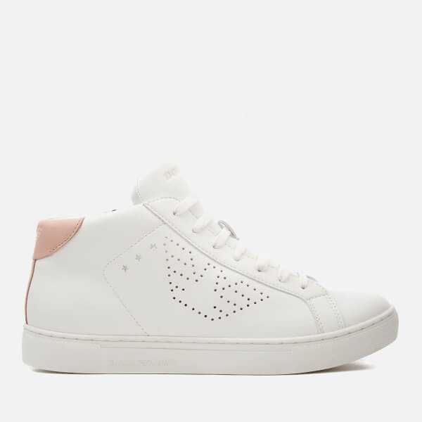 Emporio Armani LACE UP - Trainers - white/nude