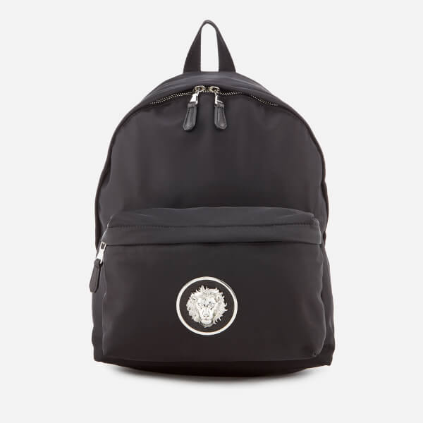 Versus Versace Men's Round Logo Back Pack - Black/Nickel