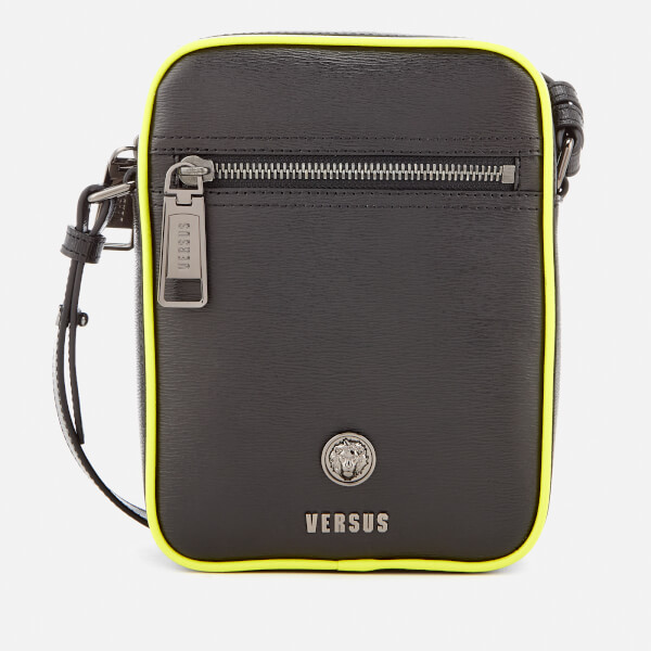 a5743d1780 Versus Versace Men s Neon Detail Cross Body Bag - Black Fluro Yellow  Image  1