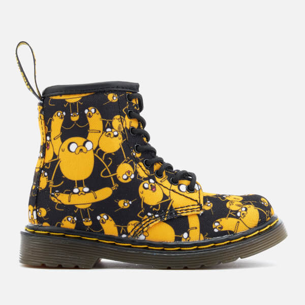 Dr. Martens Toddlers' Brooklee Canvas Jake Print Lace Low Boots - Black/Yellow