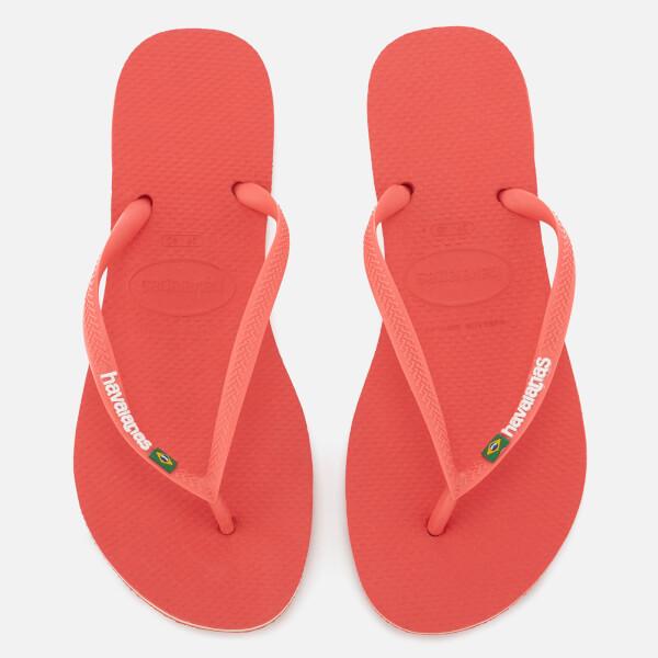 Havaianas Women's Slim Brasil Flip Flops - Coralnew
