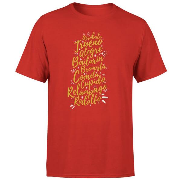 International Reindeer T-Shirt - Red