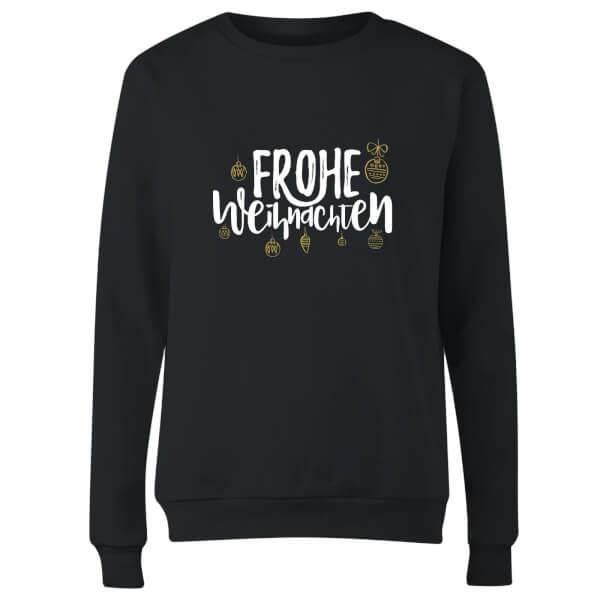 Frohe Weihnachten Women's Sweatshirt - Black