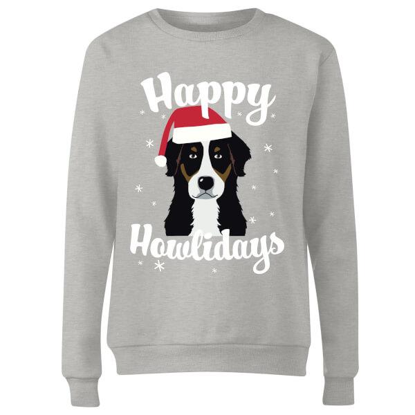 Happy Howlidays Women's Sweatshirt - Grey
