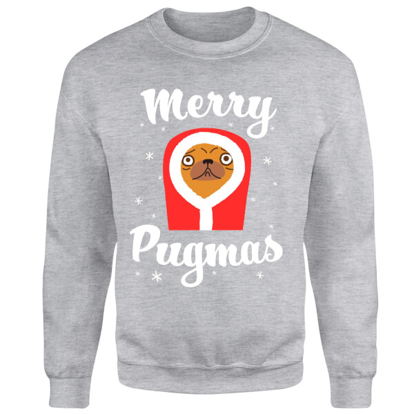 Merry Pugmas Sweatshirt - Grey