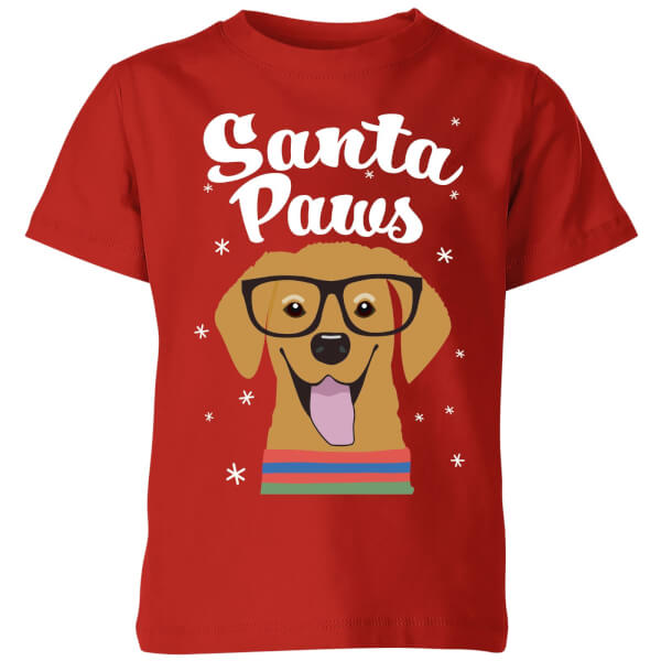 Santa Paws Kids' T-Shirt - Red