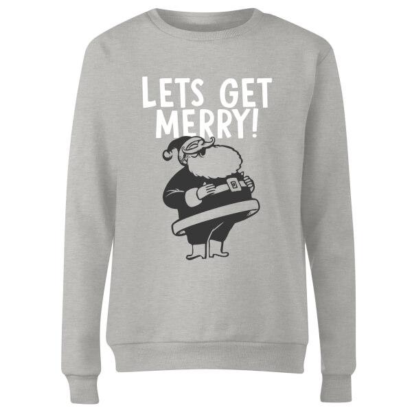 Lets Be Merry Women's Sweatshirt - Grey