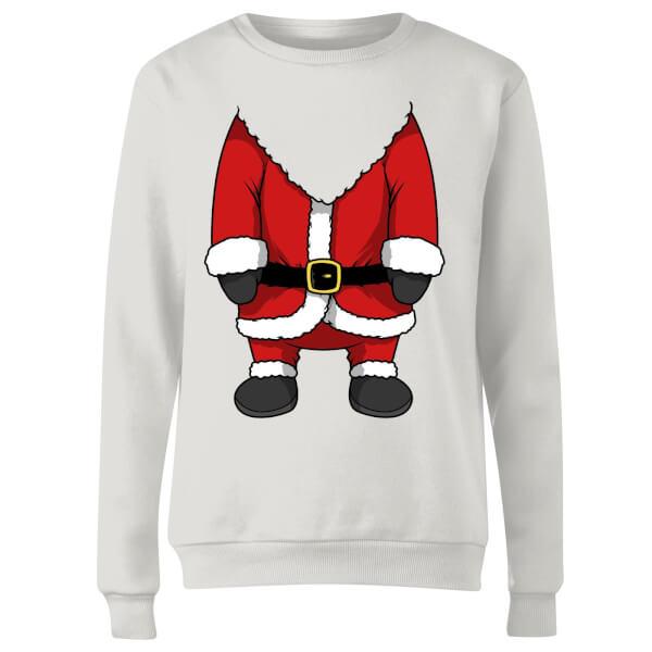 Santa Women's Sweatshirt - White
