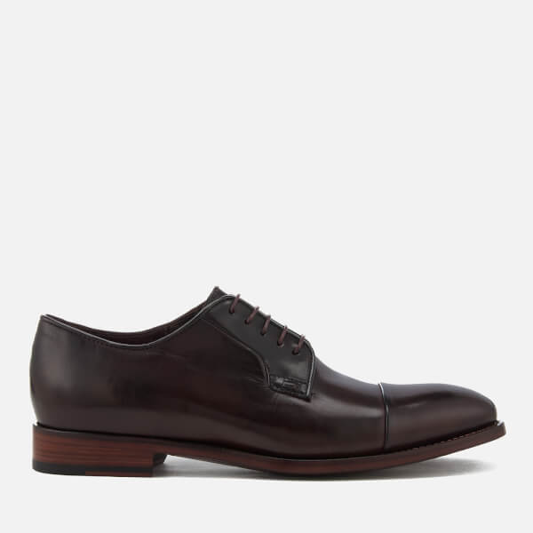 Paul Smith Men's Ernest Leather Toe Cap Derby Shoes - Oxblood