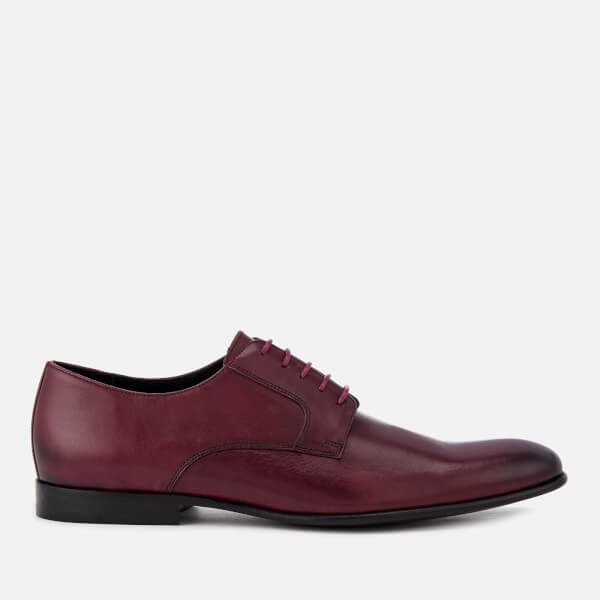 PS Paul Smith Men's Gould Burnished Leather Oxford Shoes - Burgundy