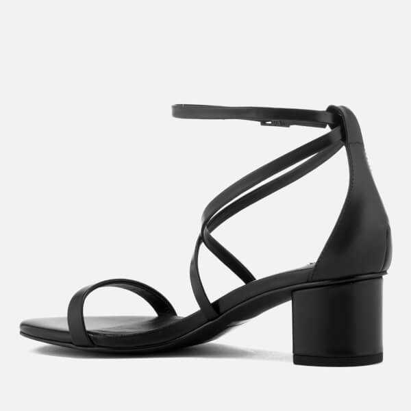 SENSO Women's Jenni Satin Blocked Heeled Sandals - Ebony - UK 3 rueIWdfC6S