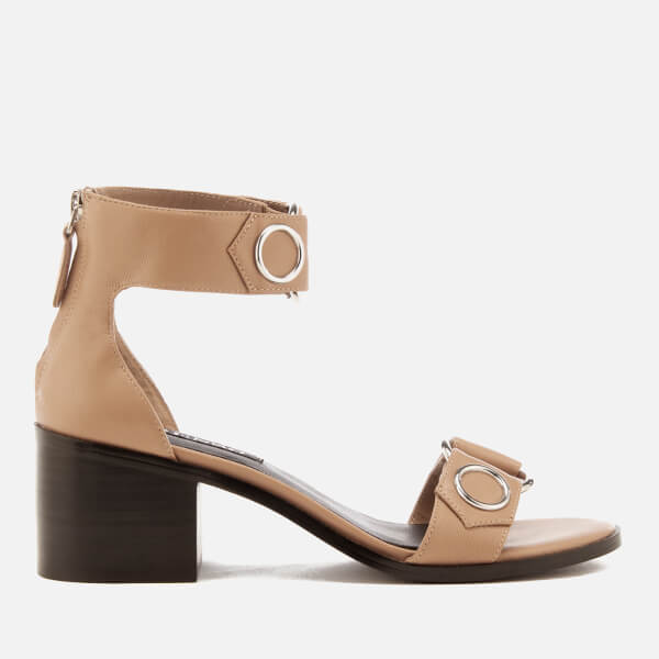Senso Women's Kendrick Leather Blocked Heeled Sandals - Oatmeal