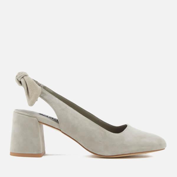 SENSO Women's Iliana II Suede Sling Back Block Heels - Dove - UK 3 snml2hcNg