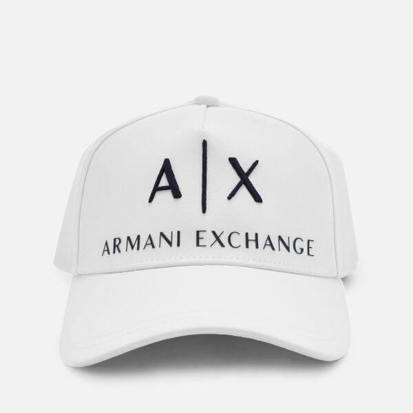 Armani Exchange Men's Logo Cap - White